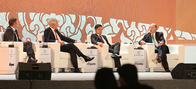 Photo of panelists, incl. Keith Williams, at APEC CEO Summit