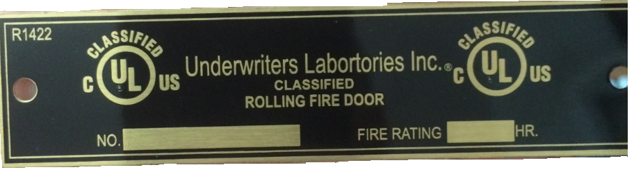 photo of counterfeit label