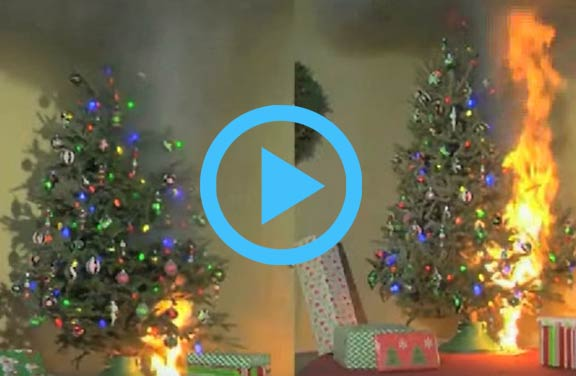 Video: Holiday Tree Fire