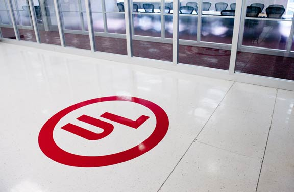 Image: UL logo on lab floor