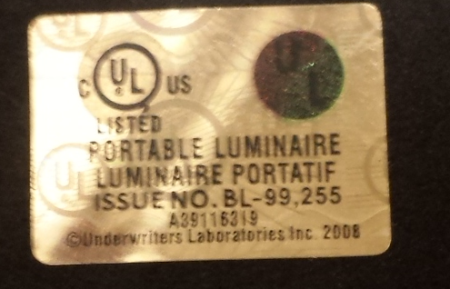 Ul Warns Of Counterfeit Ul Mark On Table Lamp Release No