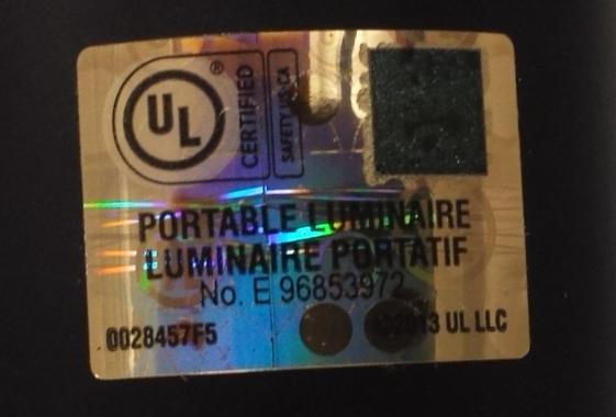 ul warns of stolen holographic labels. Black Bedroom Furniture Sets. Home Design Ideas