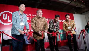 Ribbon cutting ceremony at UL's new wire & cable laboratory in Jakarta, Indonesia on April 11, 2017