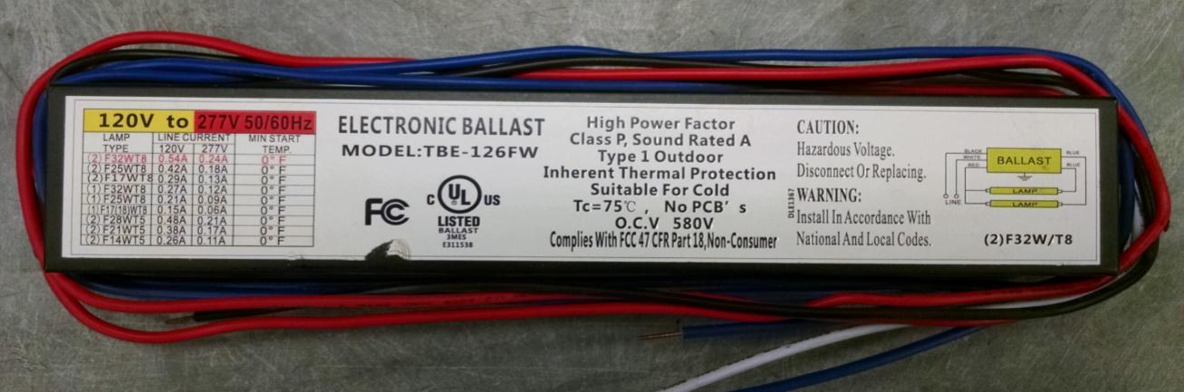UL Warns of Potentially Hazardous Electronic Ballast (Release No ...