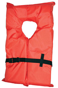 orange near-shore life jacket