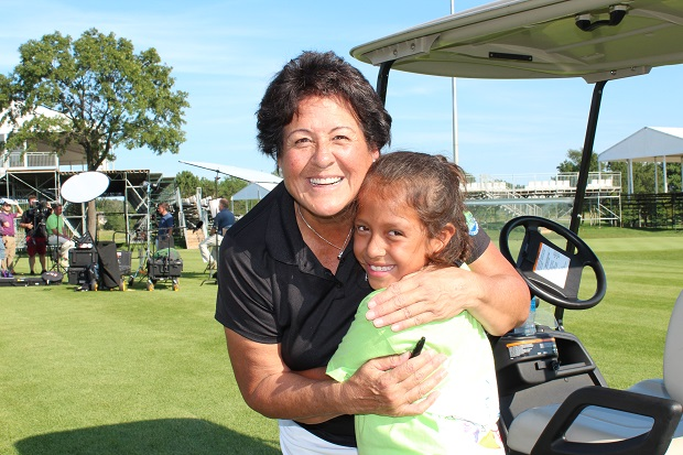 Chicago Area Girls Putt Around with LPGA Golf Legend, Nancy Lopez