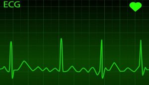 heart rate monitor with green writing