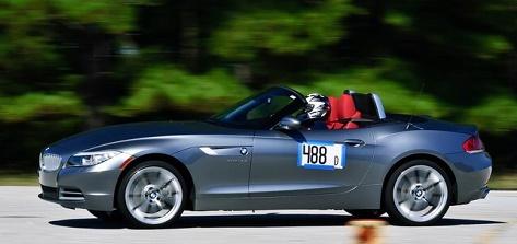 Katherine McClure in race car
