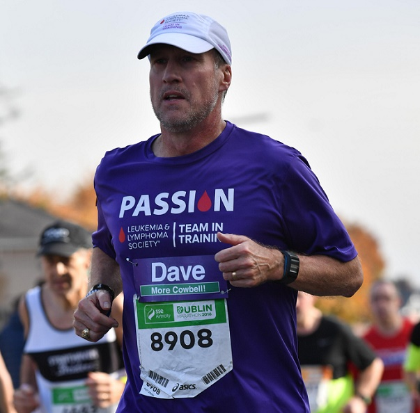 David Wroth running a marathon for the Leukemia and Lymphoma Society