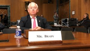 Terry Brady testifies before Senate Finance Committee