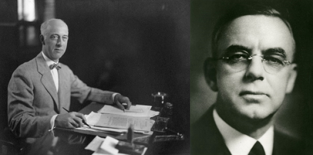 Dana Pierce, left, and Alvah Small, right, guided UL through the hardships of the 1930s.
