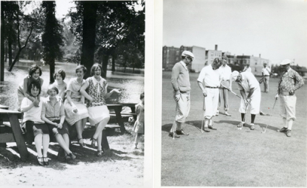 UL employees enjoying themselves at the company picnic in 1928, a year before the stock market crash of 1929.
