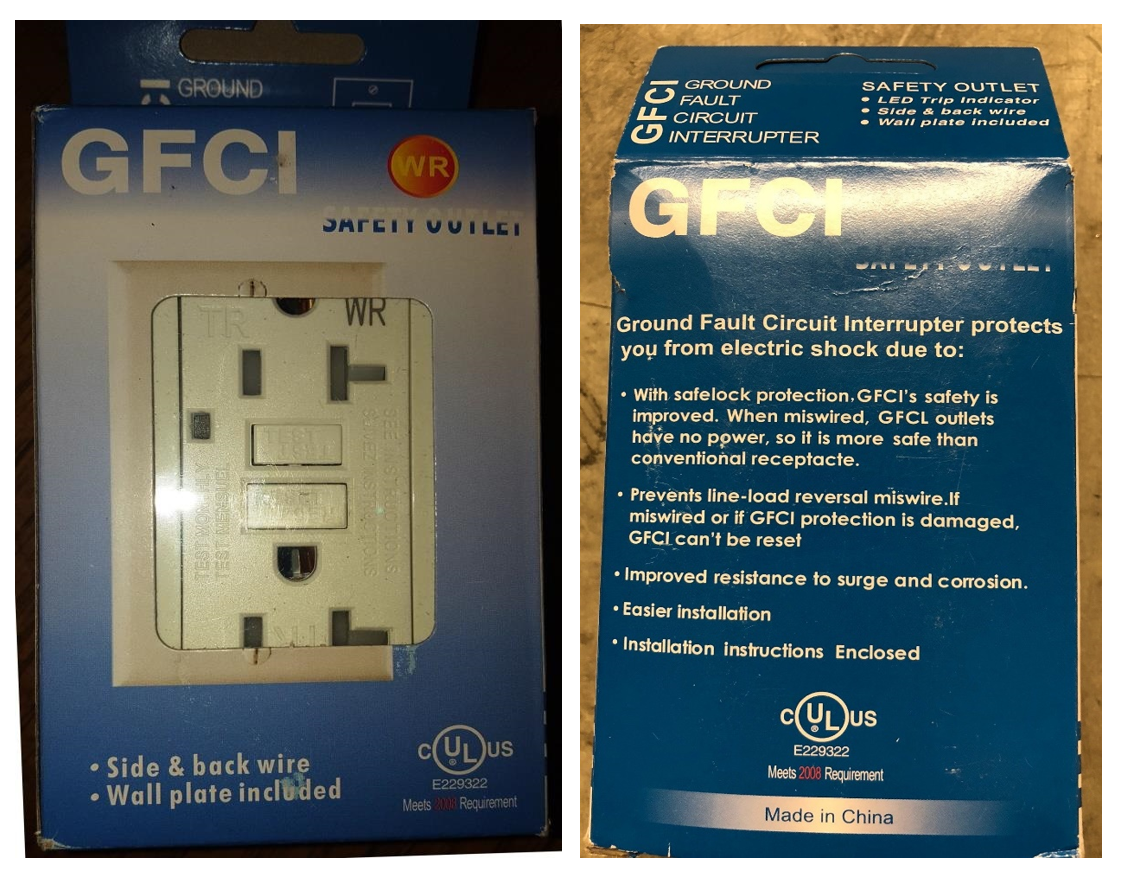 Ul Warns Of Counterfeit Marks On Ground Fault Circuit Wiring Outlet Interrupters Gfci Release 18pn 14
