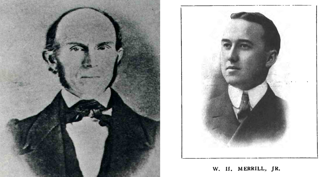 Left: Elgin's founder, James Gifford. From Elgin, An American History. Right: UL's founder, William Henry Merrill, Jr. From Electrical World, 1906.