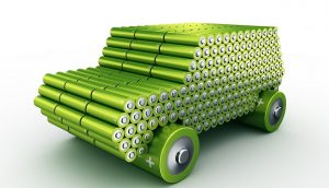 electric vehicle batteries model made using batteries.