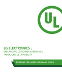 The Sustainable Edge: LG Electronics Case Study - Enhancing Customer Experience Through Sustainability