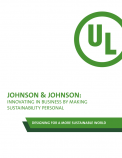 Johnson & Johnson: Innovating in Business by Making Sustainability Personal