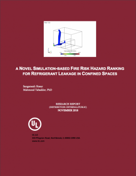 A Novel Simulation-Based Fire Risk Hazard Ranking For Refrigerant Leakage In Confined Spaces