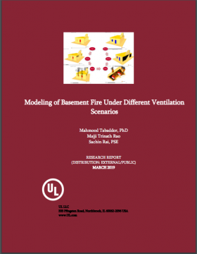 Modeling of Basement Fire Under Different Ventilation Scenarios